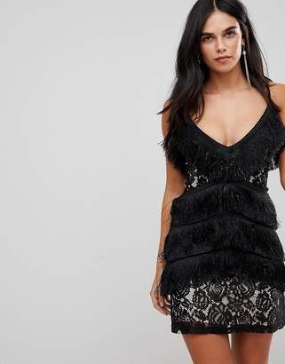 Club L Cami Tassel Lace Mini Dress