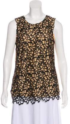 Lela Rose Patterned Sleeveless Top