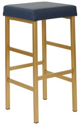 """Office Star OSP Designs by Products 30"""" Gold Backless Stool"""
