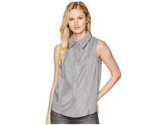 Calvin Klein Sleeveless Woven Pullover Top Women's Sleeveless