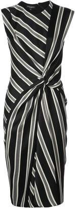 Narciso Rodriguez stripe pattern knot dress