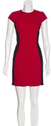 Gareth Pugh Wool Colorblock Dress