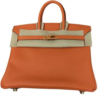 Hermes Birkin leather handbag