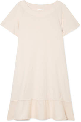 Skin - Voile-trimmed Cotton-jersey Nightdress - Pastel pink