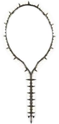Stephen Webster mother of pearl spiked necklace