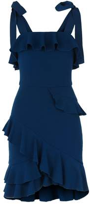 Rebecca Vallance Aegean Ruffle Mini Dress
