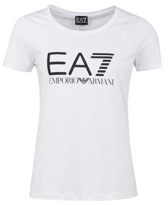 Ea7 Logo Series Crew Neck T-shirt Colour: WHITE, Size: MEDIUM