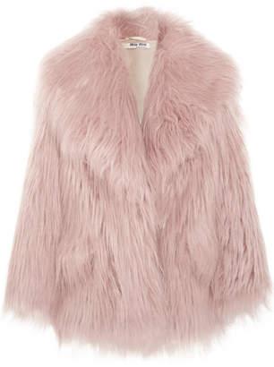 Miu Miu - Oversized Faux Fur Coat - Lilac
