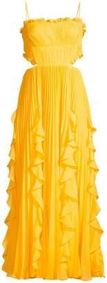AMUR Rayna Ruffled Tea-Length Dress