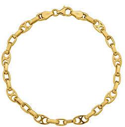 Xo QVC 14K Gold & Oval Link Bracelet, 5.1g
