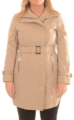 T Tahari Asymmetrical Belted Trench Coat