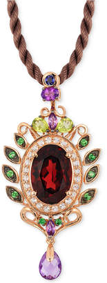 LeVian Le Vian Crazy Collection Garnet (5-1/3 ct. t.w) and Multi-Stone (1-3/4) Pendant in 14k Rose Gold