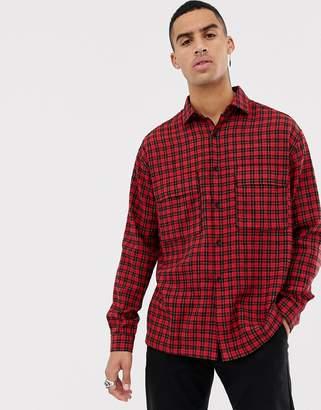 Mennace shirt in red check