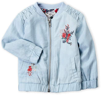 Jessica Simpson Infant Girls) Floral Embroidered Bomber Jacket
