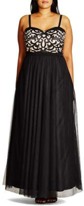 City Chic 'It Girl' Maxi Dress