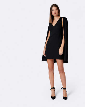 Forever New Dionne Crepe Cape Dress