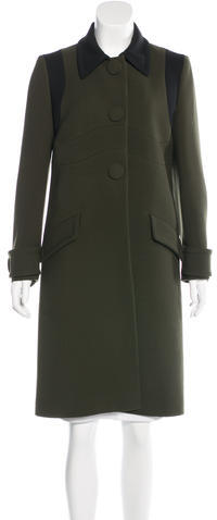 prada Prada Wool Colorblock Coat
