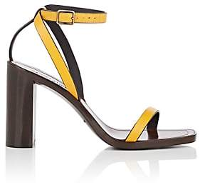 Saint Laurent Women's Leather Ankle-Strap Sandals - Yellow