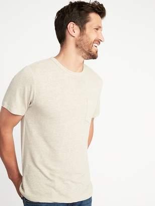 Old Navy Linen-Blend Crew-Neck Pocket Tee for Men
