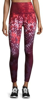 The North Face Super Waisted Printed Performance Leggings, Deep Garnet Red $90 thestylecure.com