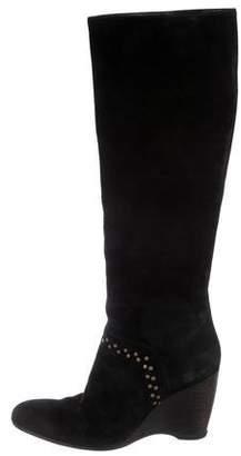 Hogan Suede Wedge Boots