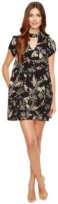 Brigitte Bailey Averie Short Sleeve Floral Dress Women's Dress