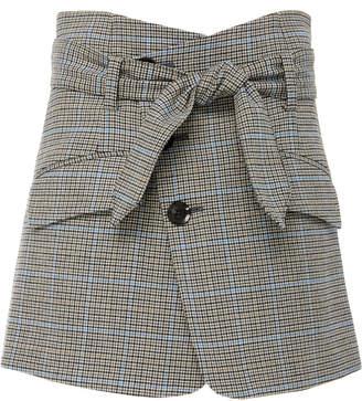 Marissa Webb Katrina plaid wool blend mini skirt