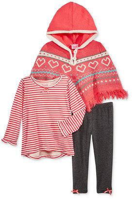 Nannette 3-Pc. Sweater Poncho, T-Shirt & Leggings Set, Toddler & Little Girls (2T-6X) $60 thestylecure.com