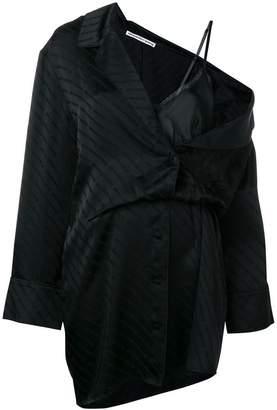 Alexander Wang layered shirt slip dress