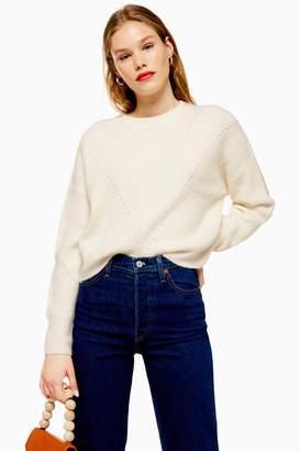 Topshop Super Soft Pointelle Knitted Jumper