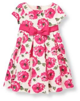 Janie and Jack Floral Pleated Dress
