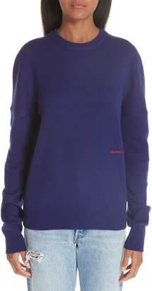Calvin Klein Logo Embroidered Cashmere Sweater