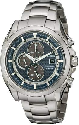 Citizen Men's CA0550-87L Titanium Analog Display Japanese Quartz Silver Watch