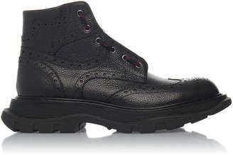 Alexander McQueen Leather Brogue Boots
