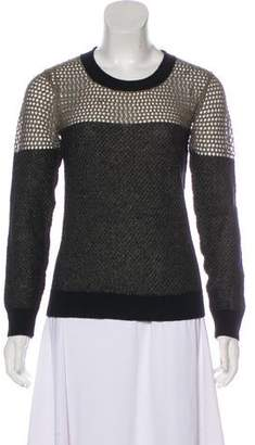 AllSaints Open Knit Metallic Sweater