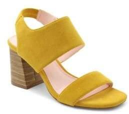 Kensie Block Heel Suede Sandals