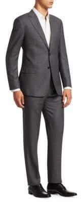 Giorgio Armani Birdseye Regular-Fit Wool Suit