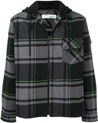 Off-White checked zip-up jacket