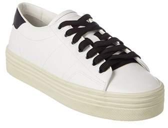 Saint Laurent Leather Platform Sneaker.