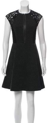 Rebecca Taylor Lace-Accented Mini Dress