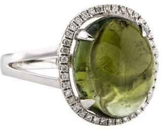 Ring 18K Tourmaline & Diamond