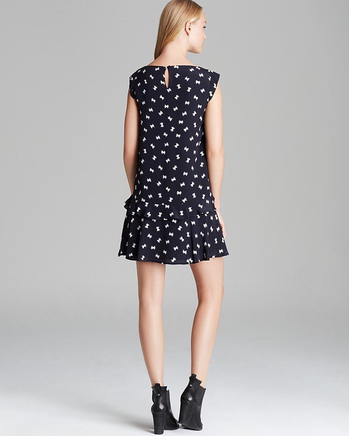 French Connection Dress - Snow Bow Silk