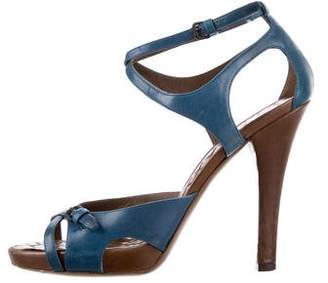 Bottega Veneta Leather Crossover Sandals