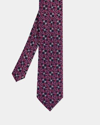 e4a7af044329 Ted Baker CUSHION Floral silk tie