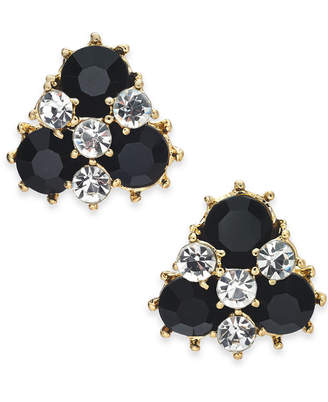 Charter Club Gold-Tone Crystal & Stone Cluster Stud Earrings, Created for Macy's