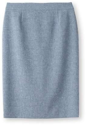 INDIVI (インディヴィ) - インディヴィ [マシンウォッシュ/UV]リネン風ストレッチスカート