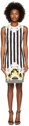 Versace Sleeveless Striped Dress