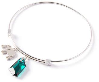 Alex and Ani Crystal & Elephant Charm Bracelet, Silver