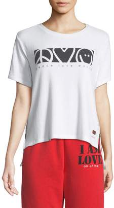 Peace Love World Taylor Comfy Logo Tee