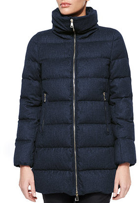 Moncler Torcelle High-Neck Puffer Coat $1,560 thestylecure.com